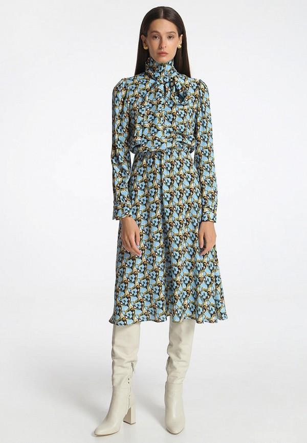 женское повседневные платье shako, бирюзовое