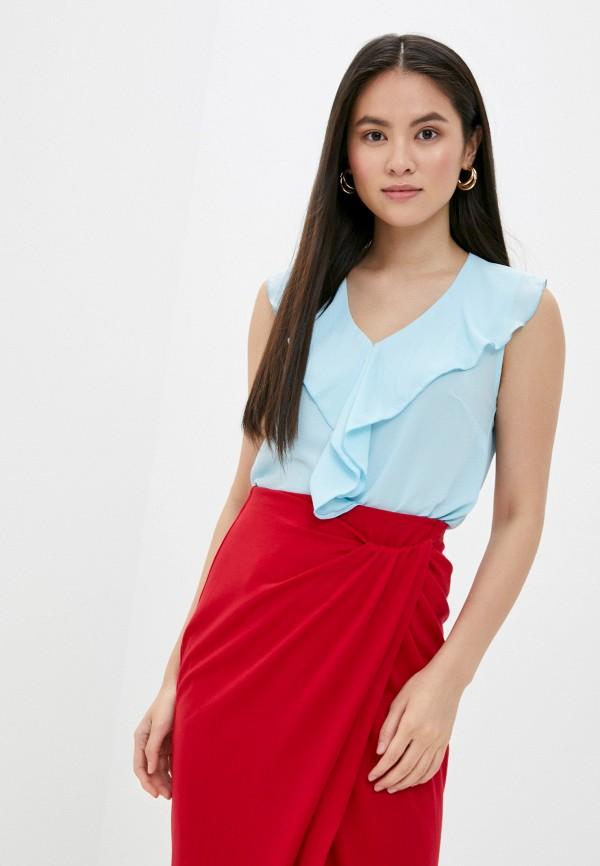 женская блузка без рукавов mark formelle, голубая