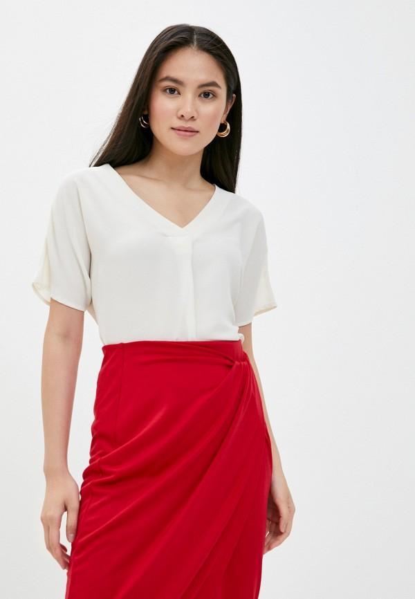 женская блузка с коротким рукавом mark formelle, белая