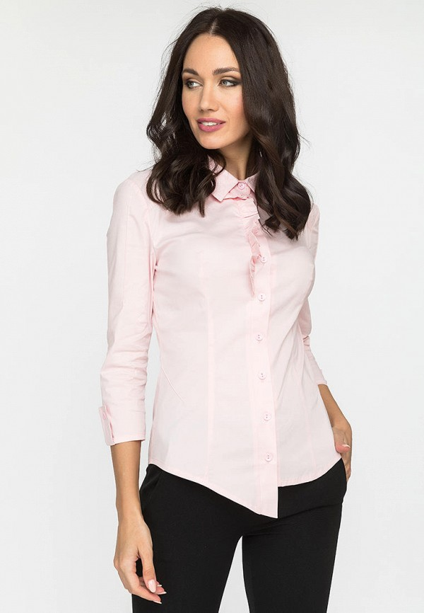 женская рубашка с длинным рукавом gloss, розовая