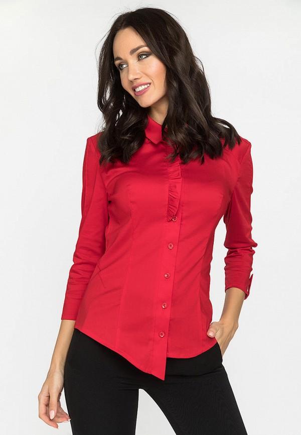 женская рубашка с длинным рукавом gloss, красная