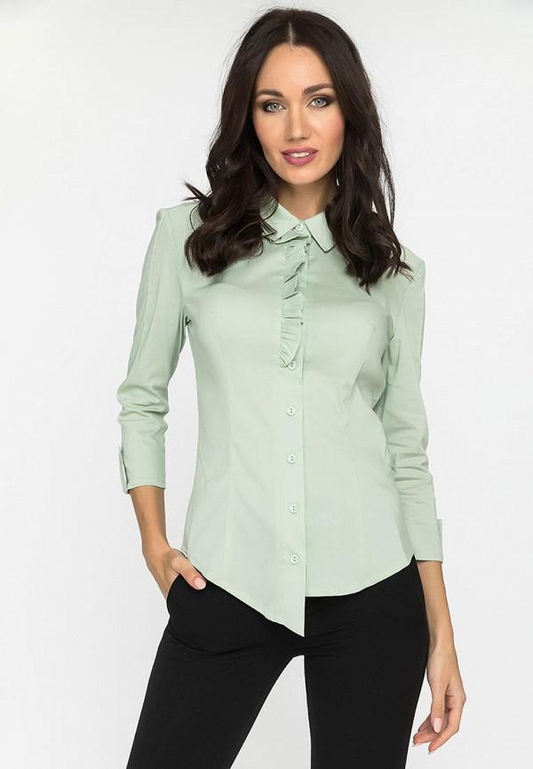 женская рубашка с длинным рукавом gloss, зеленая