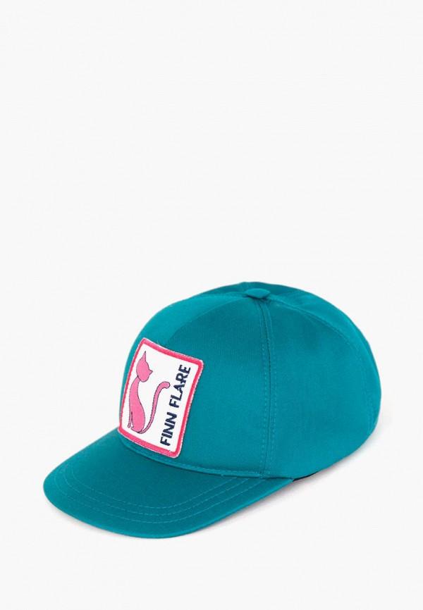 Бейсболка Finn Flare бирюзового цвета