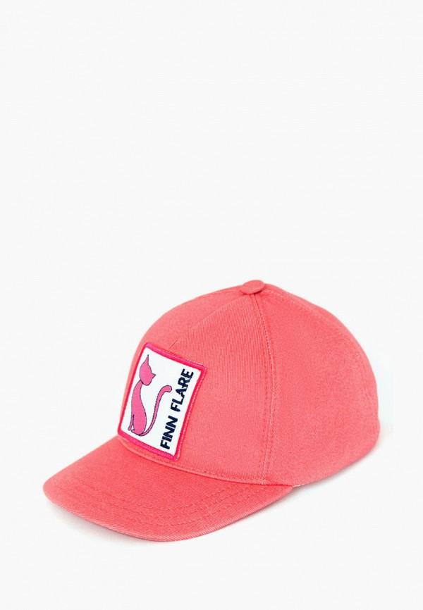 женская бейсболка finn flare, розовая