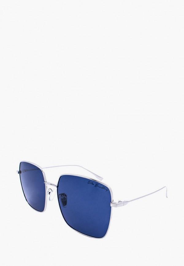 женские квадратные солнцезащитные очки rita bradley, серебряные