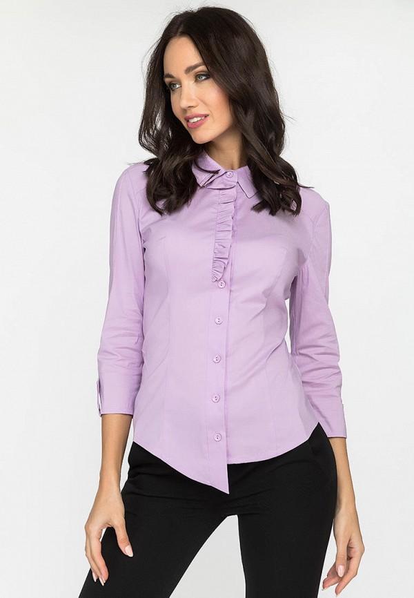 женская рубашка с длинным рукавом gloss, фиолетовая