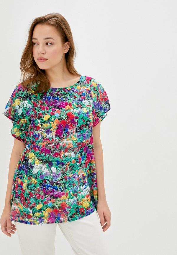 женская блузка с коротким рукавом мадам т, разноцветная
