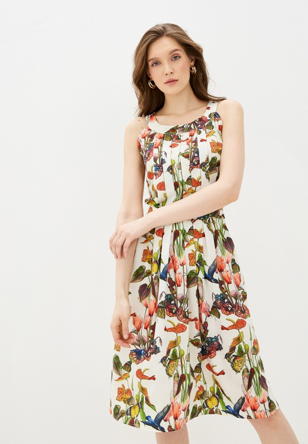 женское повседневные платье мадам т, белое