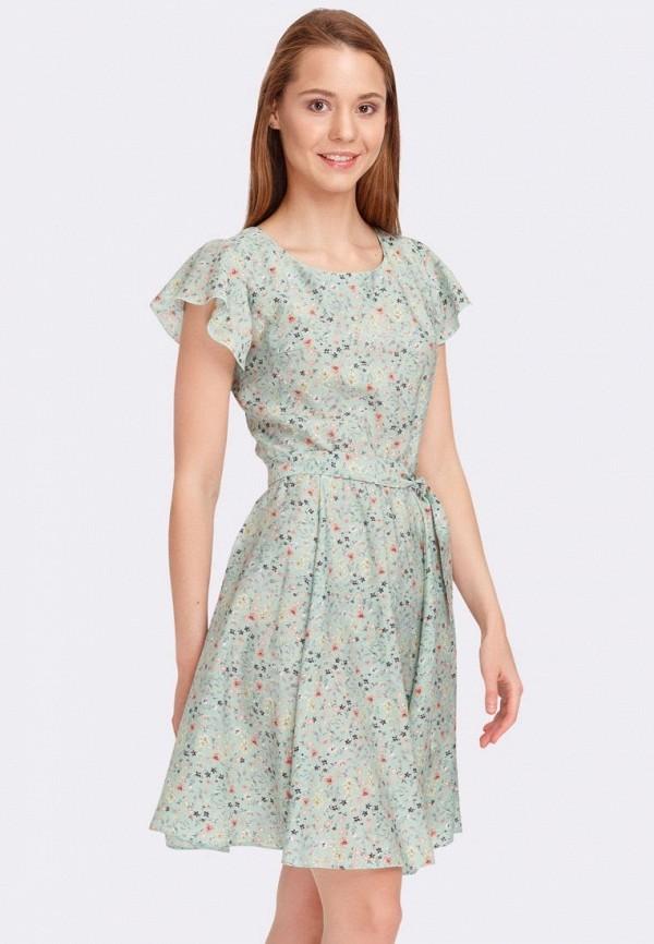 женское повседневные платье cat orange, зеленое