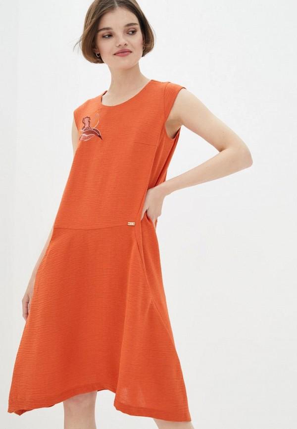 женское повседневные платье ricamare, оранжевое