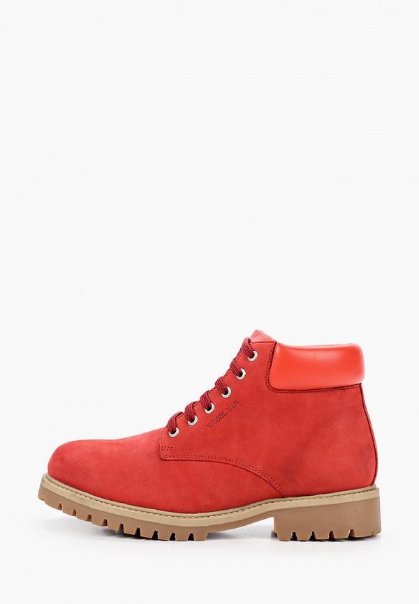 женские ботинки woodland, красные