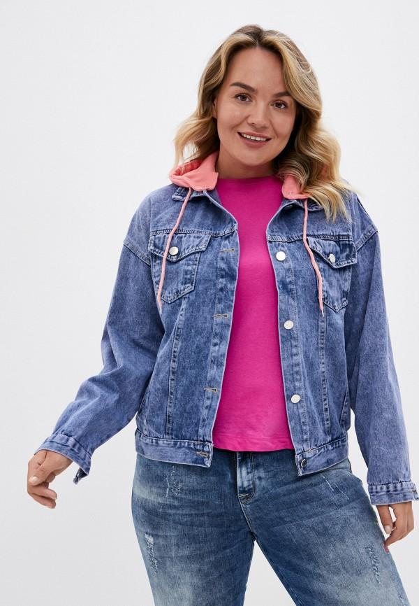 женская джинсовые куртка rosedena, синяя