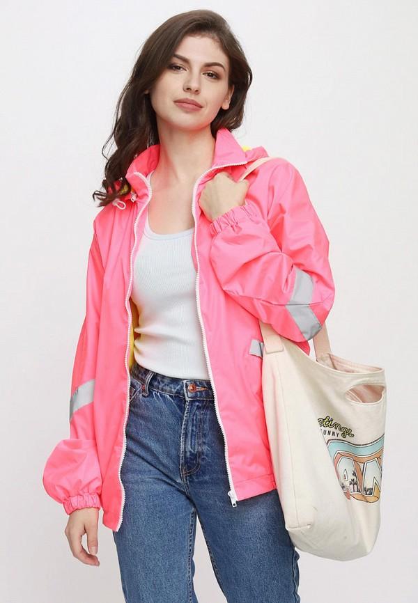 женская ветровка one.two, розовая