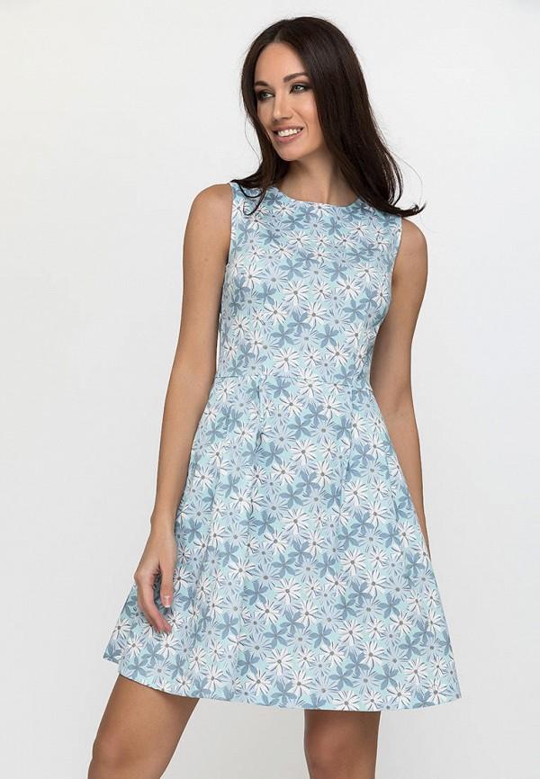 женское повседневные платье gloss, голубое