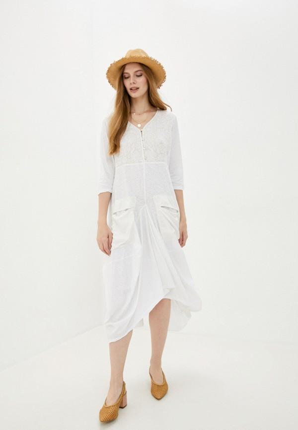 женское повседневные платье lilaccat, белое