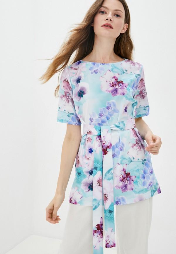Блуза Анна Голицына бирюзового цвета