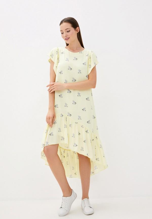 женское повседневные платье lezzarine, желтое