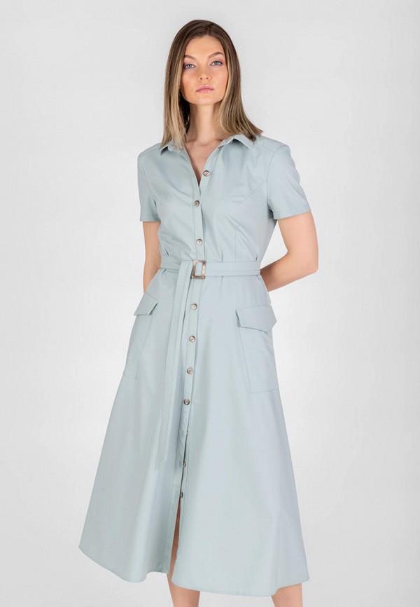 женское платье-рубашки eliseeva olesya, голубое