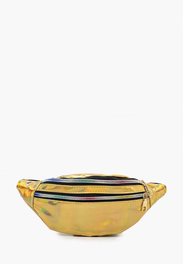 женская поясные сумка leotex, золотая