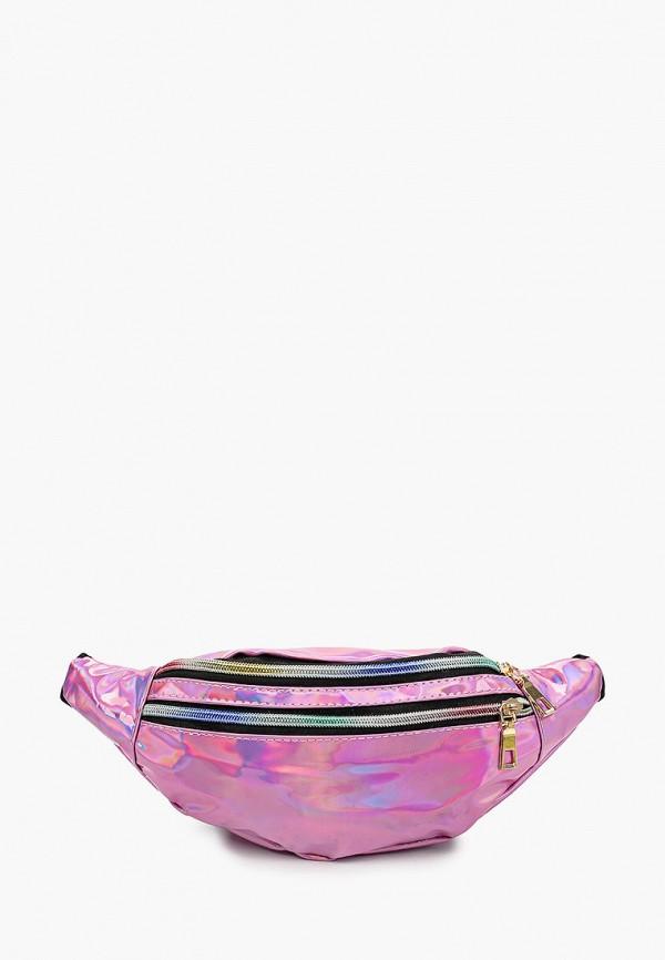женская поясные сумка leotex, розовая