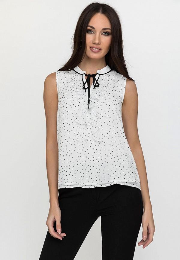 женская блузка с коротким рукавом gloss, белая
