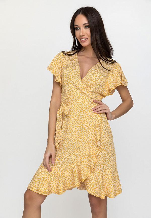 женское платье с запахом gloss, желтое