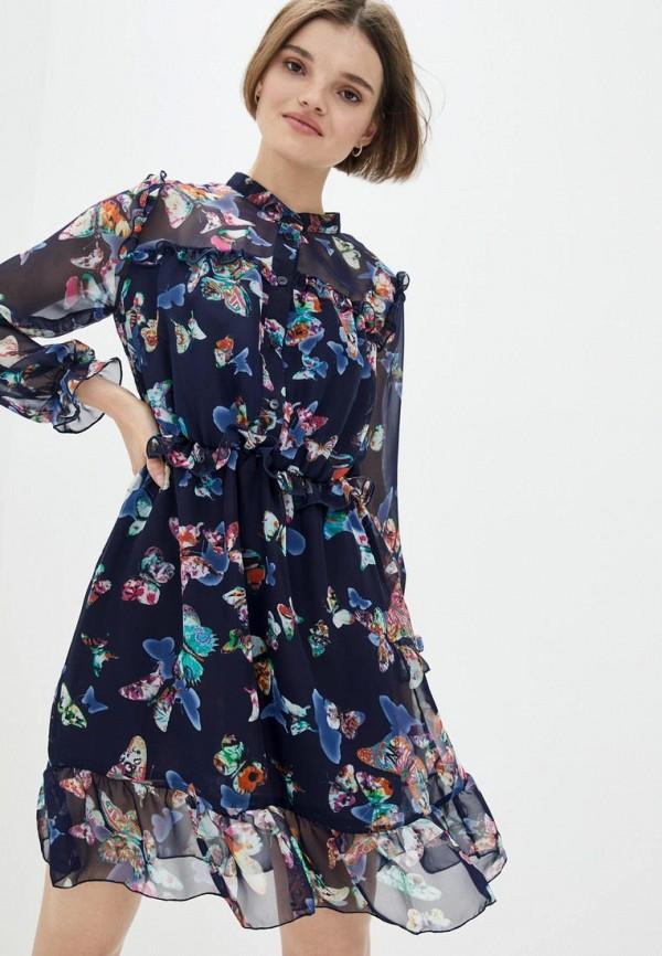 женское повседневные платье ricamare, синее