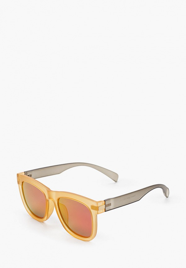 женские квадратные солнцезащитные очки модные истории, желтые