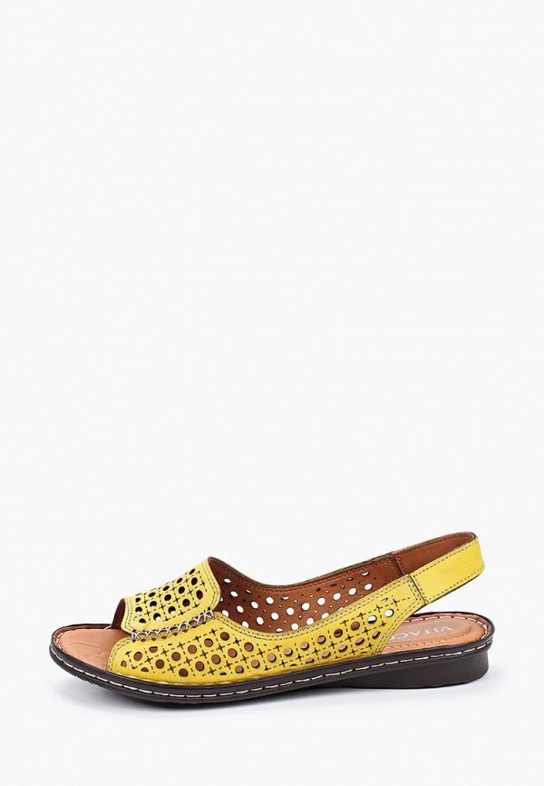женские сандалии vitacci, желтые