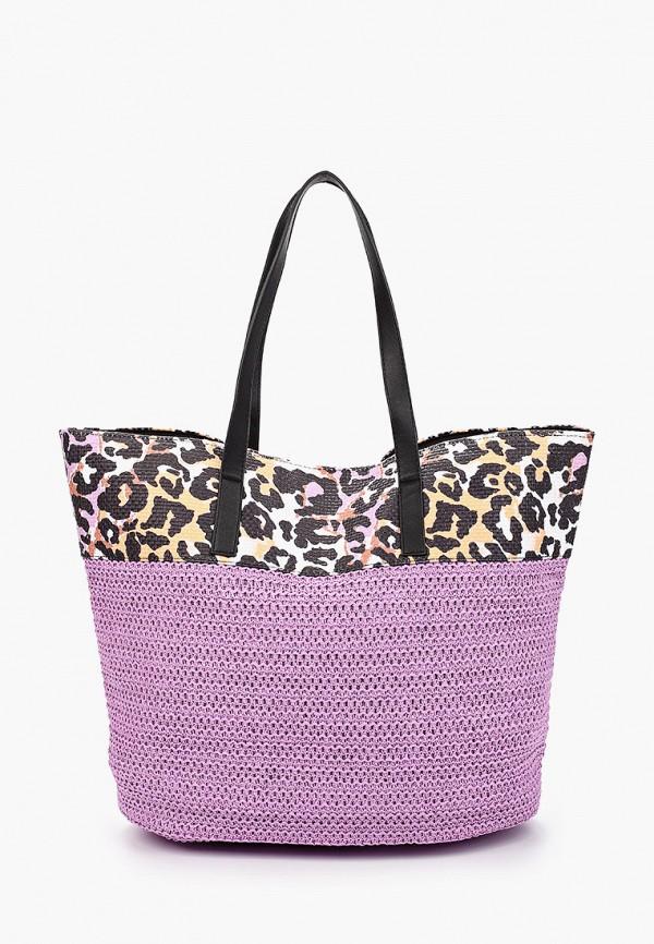 женская пляжные сумка labbra, фиолетовая