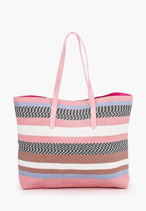 женская пляжные сумка labbra, розовая
