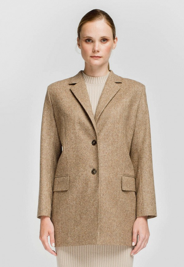 женский пиджак monamoon, бежевый