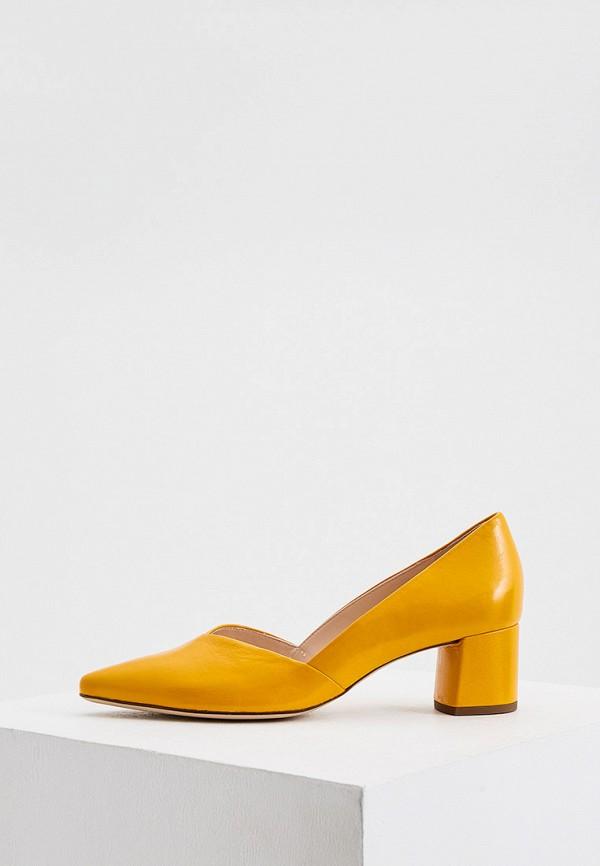 женские туфли с закрытым носом hogl, оранжевые