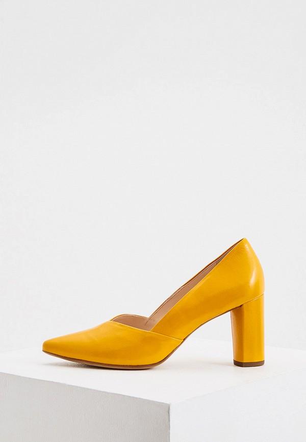 женские туфли с закрытым носом hogl, желтые