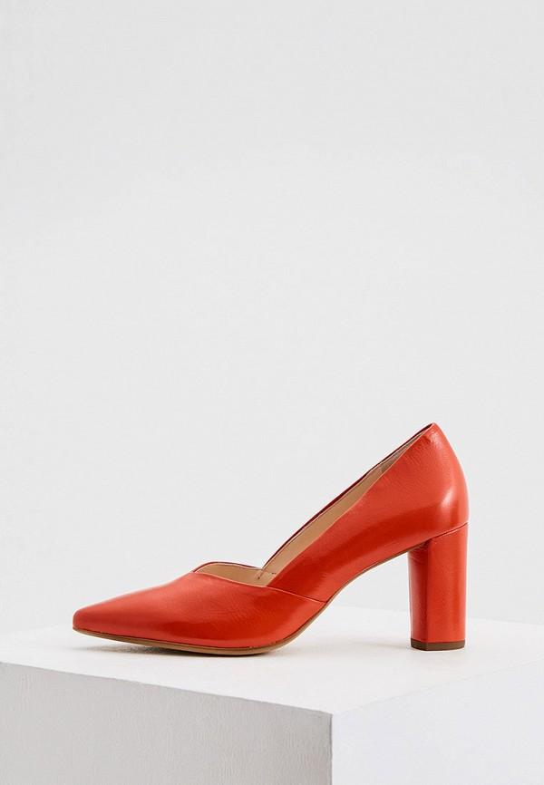 женские туфли с закрытым носом hogl, красные