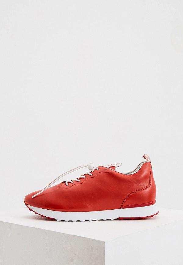 женские низкие кроссовки hogl, красные