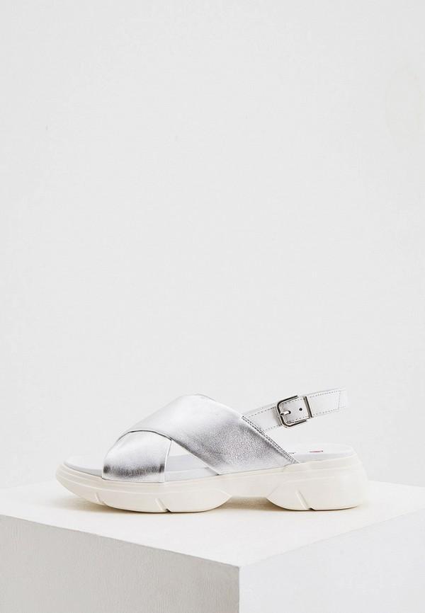 женские сандалии hogl, серебряные