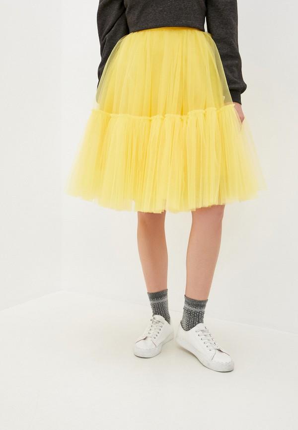 женская юбка-трапеции анисима, желтая