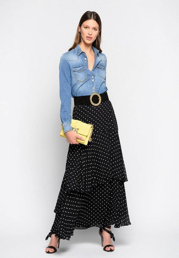 женская джинсовые рубашка pinko, синяя