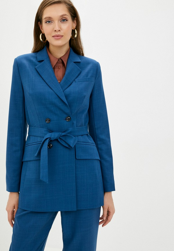 женский пиджак aylin stories, голубой