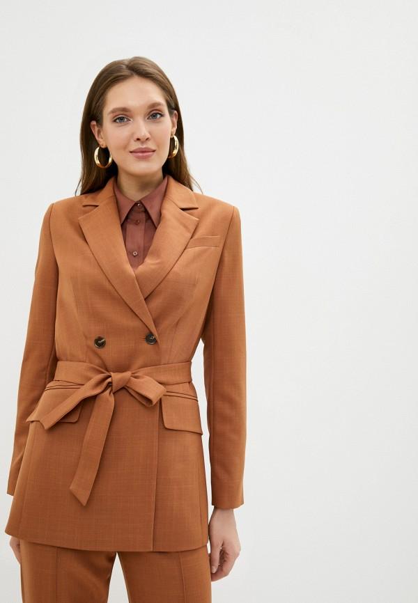 женский пиджак aylin stories, коричневый