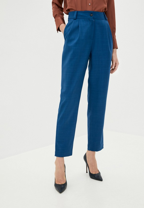 женские повседневные брюки aylin stories, голубые