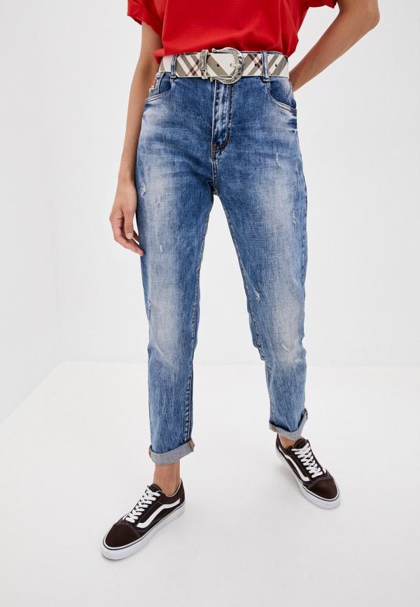 женские джинсы бойфренд fabia monti, синие