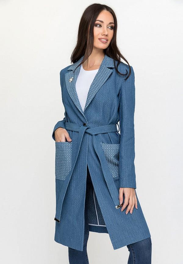 женское пальто gloss, синее