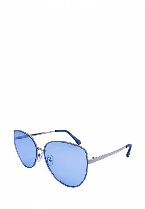женские солнцезащитные очки кошачьи глаза furlux, синие