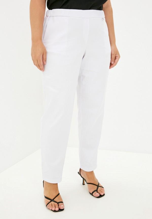 женские зауженные брюки modress, белые