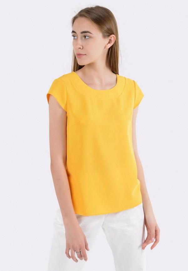 женская блузка cat orange, желтая