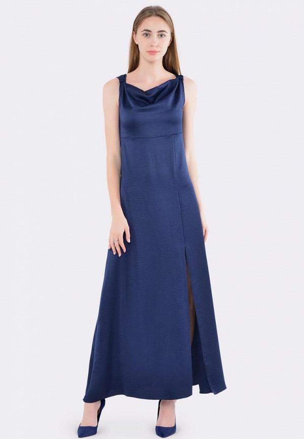 женское вечерние платье cat orange, синее