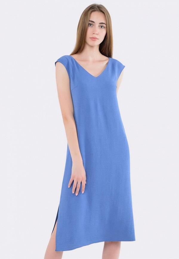 женское повседневные платье cat orange, голубое