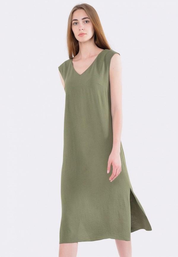женское повседневные платье cat orange, хаки